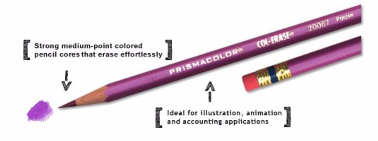 Prismacolor Col-erase Erasable Colored Pencil Vermilion 20042-12PC