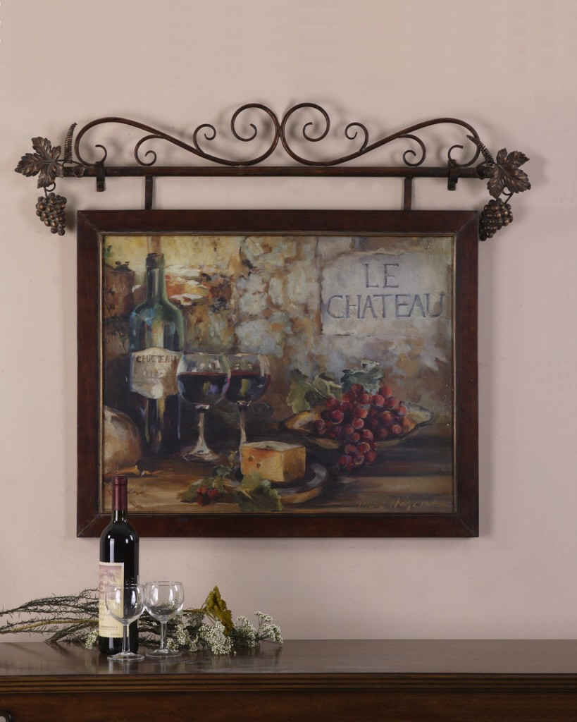 LARGE Wine, Le Chateau Tuscan French Country Wall Decor