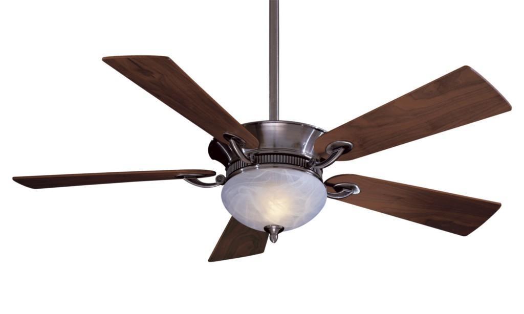 """Minka Aire Delano 52"""" Ceiling Fan Walnut Blades Lite"""