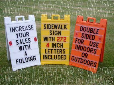 portable a frame changeable letter folding signs a frame new a frame folding portable sidewalk sign with letters ebay 838