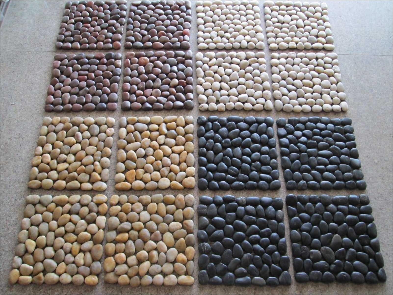 Kiesel Fluss Natur Stein Mosaik Fliesen