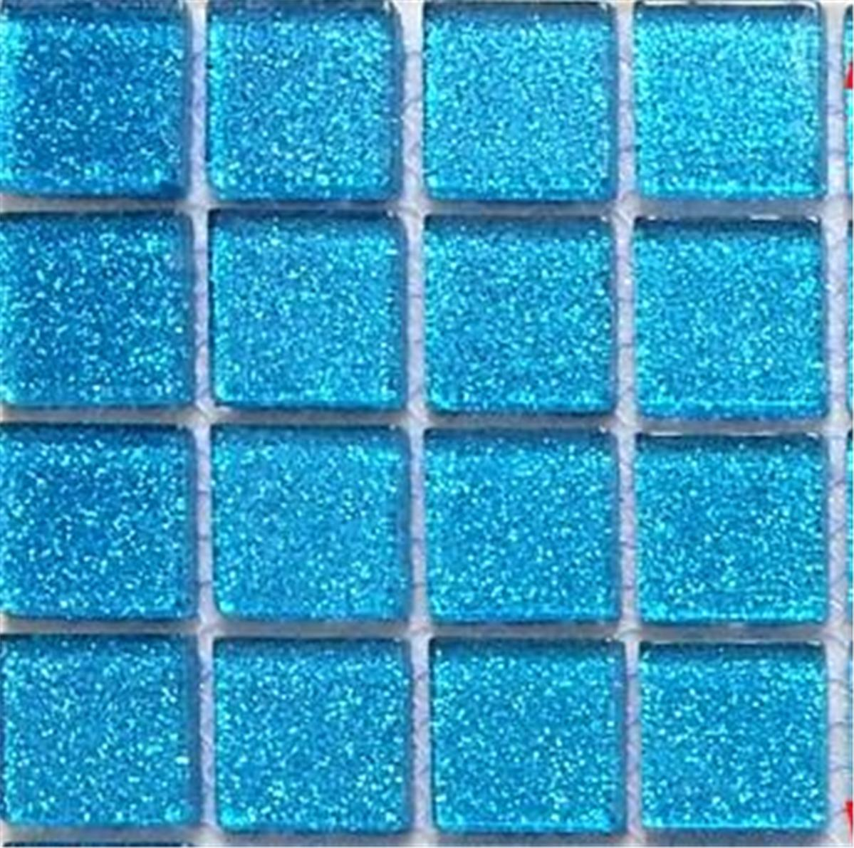 Bathroom Tiles Mosaic Border: Mosaic Tiles Glass Glitter Blue Bathroom Kitchen Walls