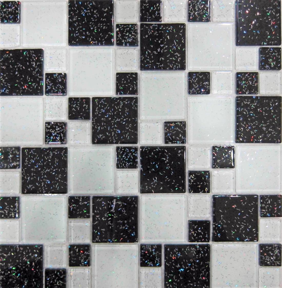 Trade Budget Glitter Mosaic Tile Sheets Glass Bathroom