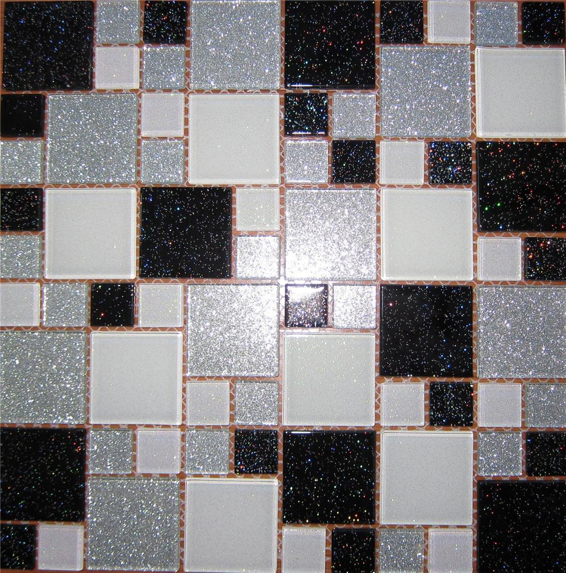 Bathroom Tiles Mosaic Border: Trade Budget Glitter Mosaic Tile Sheets Glass Bathroom