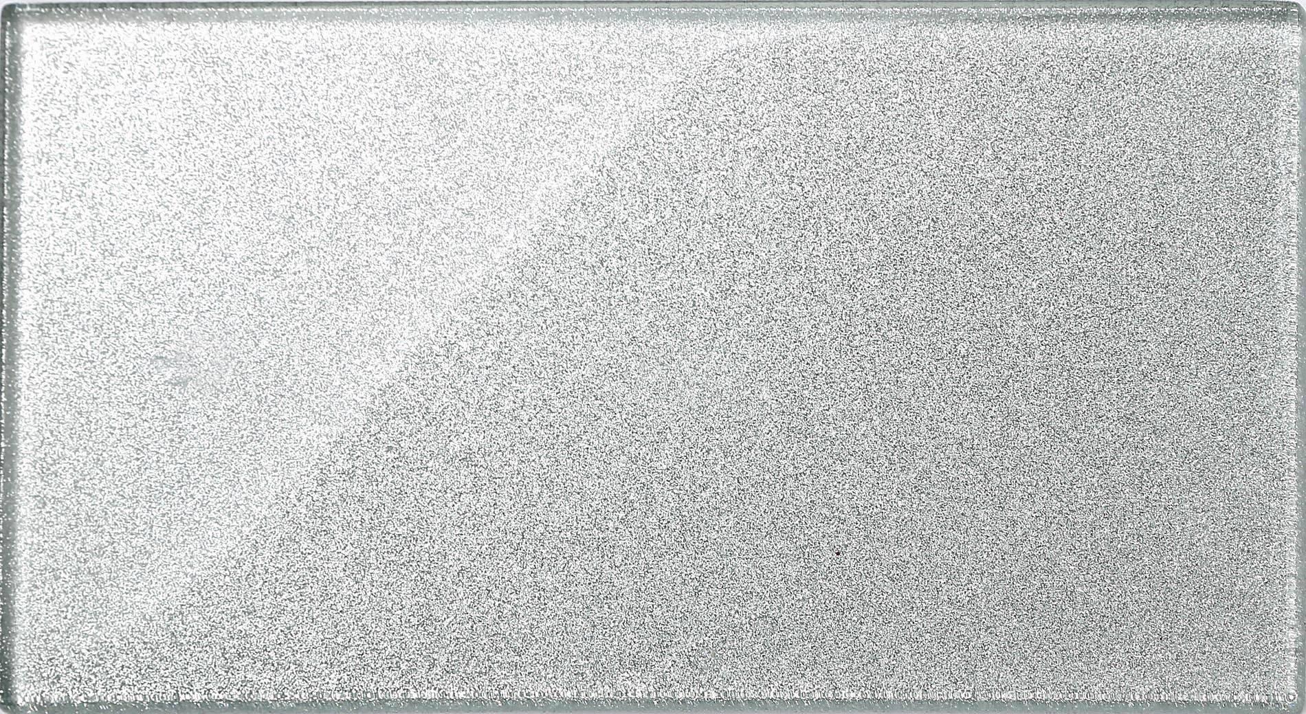 Silver Glitter Glass Tiles Bathroom Bath Splashback