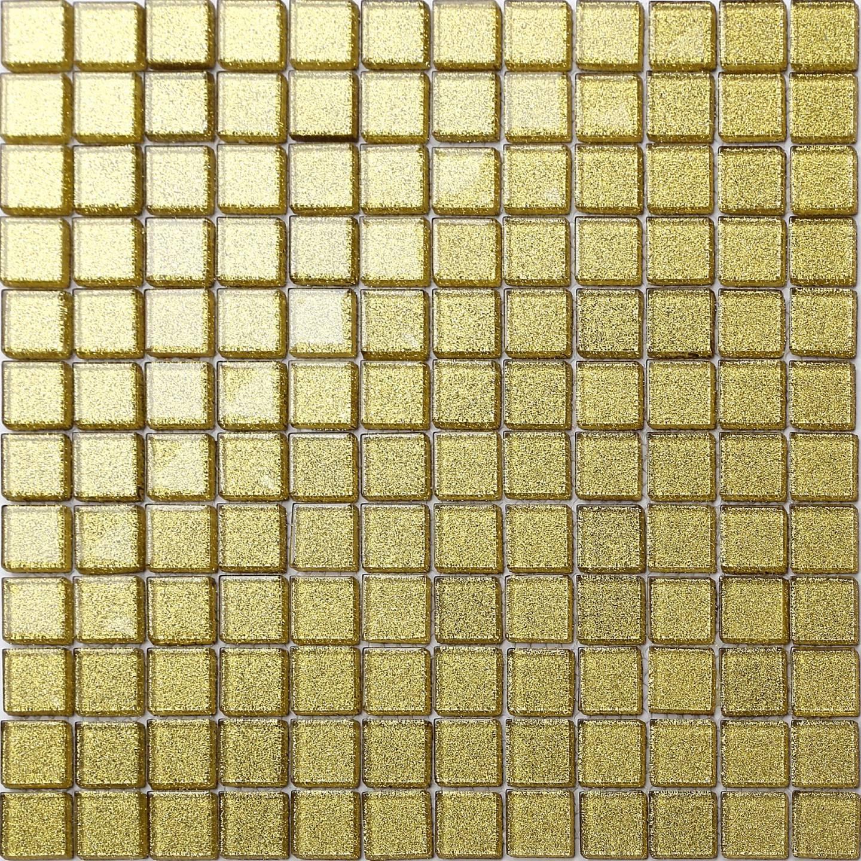 Glass Mosaic Tiles Gold Glitter Bathroom Bath Spashback