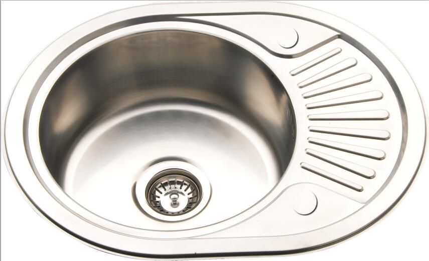Compact Inset Mount Kitchen Sink Small Polished Stainless Steel ...