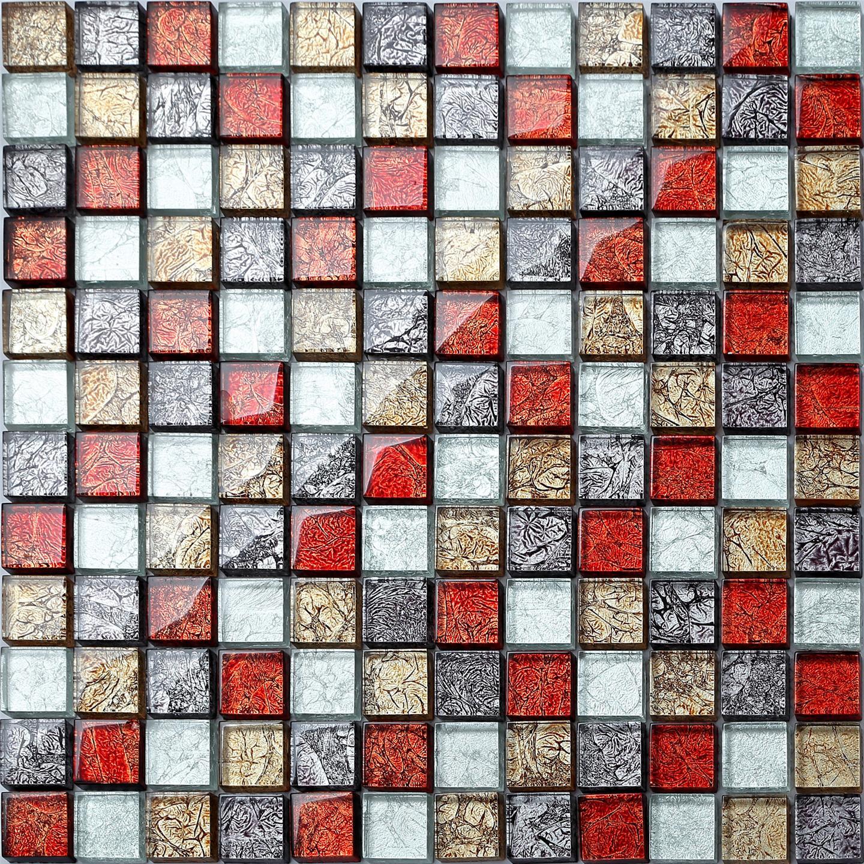 Glass Mosaic Moasaics Wall Tiles Foil Hong Kong Mix Tile