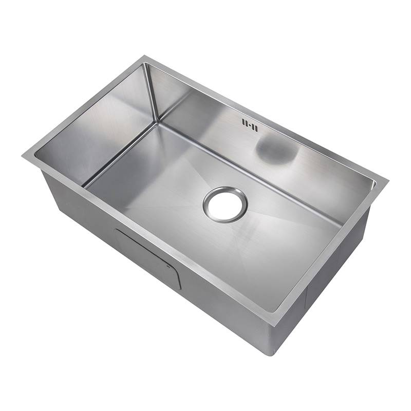 1 0 single bowl handemade satin stainless steel undermount kitchen sink ds017 ebay. Black Bedroom Furniture Sets. Home Design Ideas