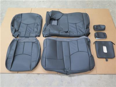 2003 2004 2005 2006 chevy silverado crew katzkin leather seat cover set ebay. Black Bedroom Furniture Sets. Home Design Ideas
