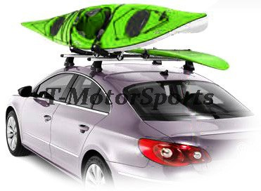 Pairs Universal Roof J Rack Kayak Boat Canoe Car Suv Van Top