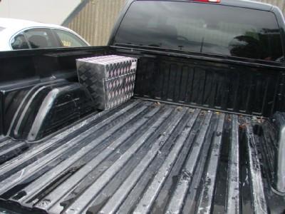 2 Aluminum Truck Pickup Trailer RV Tool Box Pork Chop Wheel Well Bed Storage L R