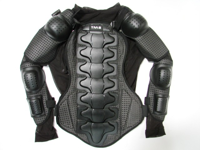 Motorcycle mx full body armor jacket spine chest shoulder for Motorcycle body armor shirt