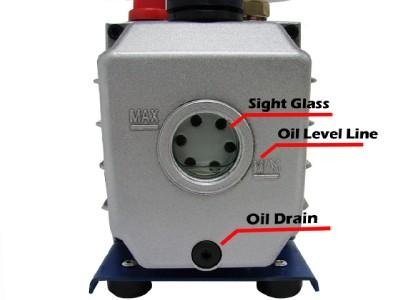 3 CFM 1 4HP Rotary Vane Deep Vacuum Pump AC A C HVAC Air Refrigerant R410A R134