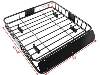 Black Universal Roof Rack Cargo Car Top Luggage Holder