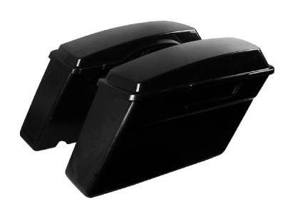 Unpainted Black Hard Saddl for Harley Touring Road King Sportster Softail