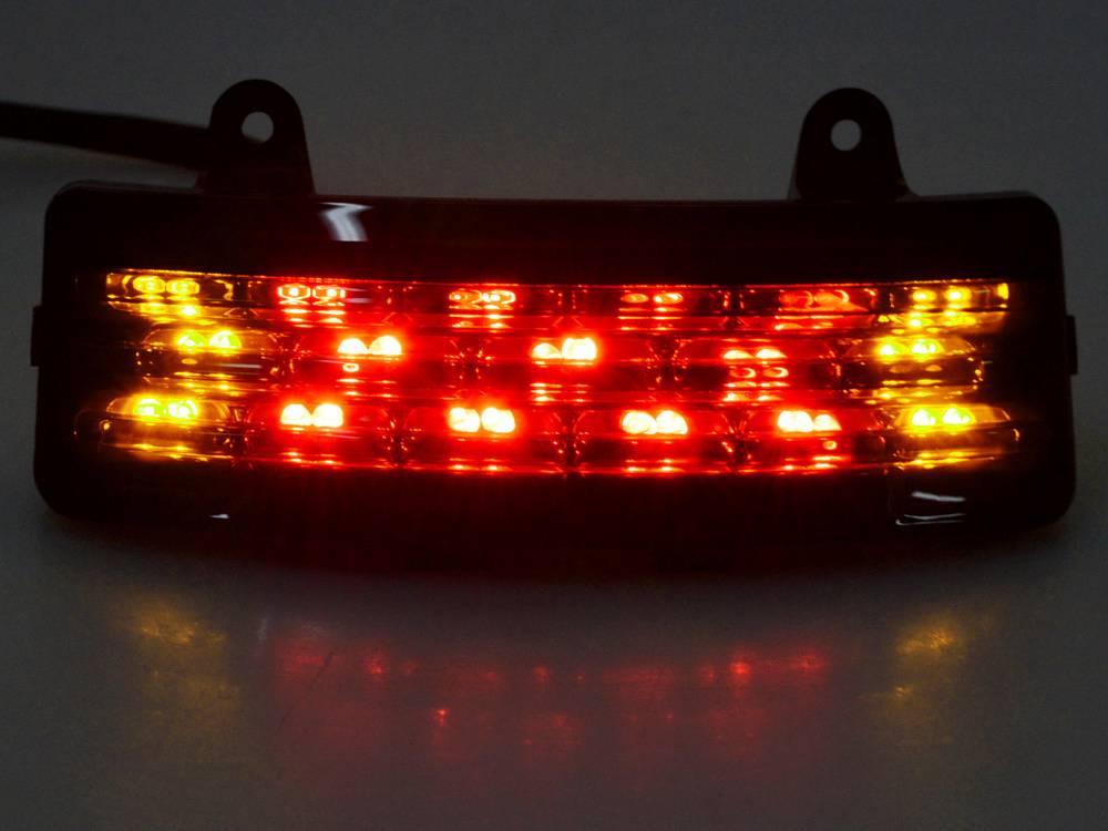 Smoke Tri Bar Fender Led Tail Brake Signal Light For