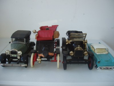 Jim Beam Decanters w/ Boxes Ford Phaeton Model T A Chevy Bel Air