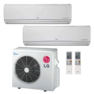 lg ductless mini split dual zone heat pump 24 000 btu 21. Black Bedroom Furniture Sets. Home Design Ideas