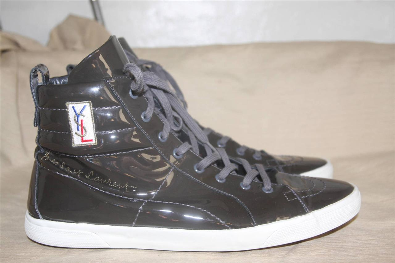 patent hi-top sneakers - Black Saint Laurent 80XYk