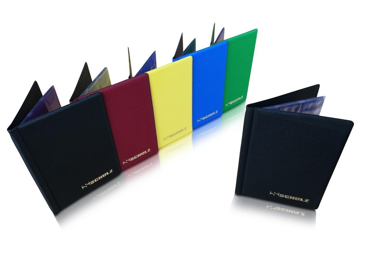 Coin Album SCHULZ 221 Coins Collection Holder Folder Storage Book Case Black Mix