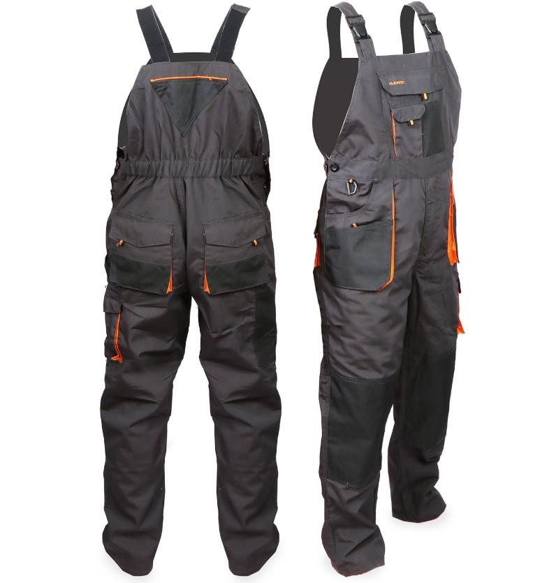 TMG Men/'s Work Bib and Brace Overall with Knee Pad Pockets