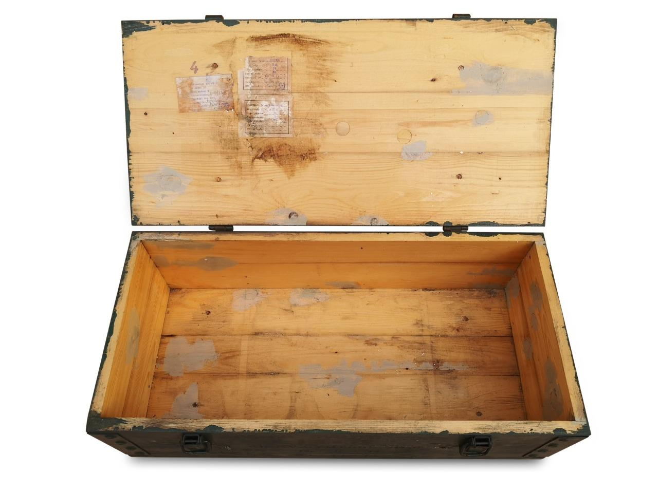 SMALL GREEN GARDEN CHEST TRUNK STORAGE BOX TOOL BOX WITH HANDLES AND CLIPS
