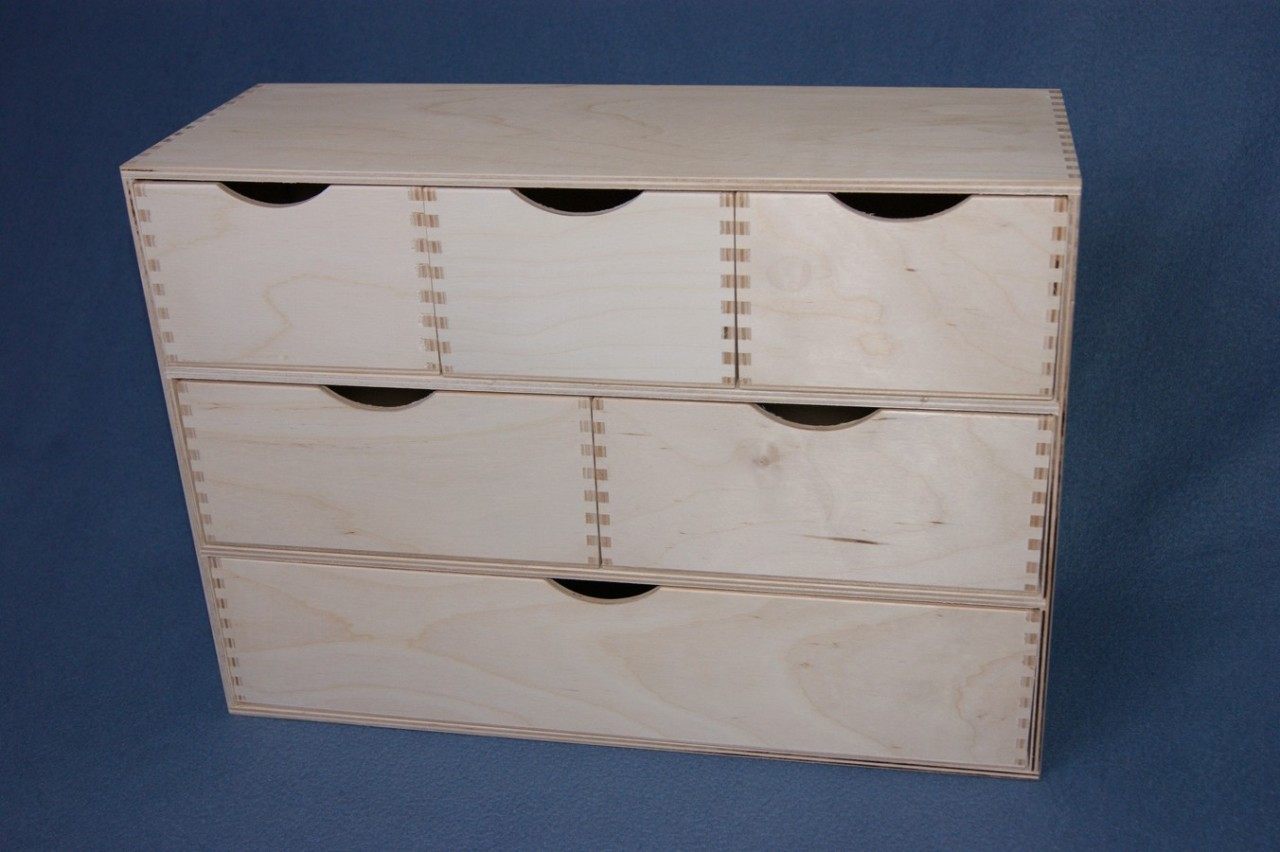 Wooden Chest Of Drawers: 321 PLAIN WOOD WOODEN BOX STORAGE CUPBOARD CHEST OF
