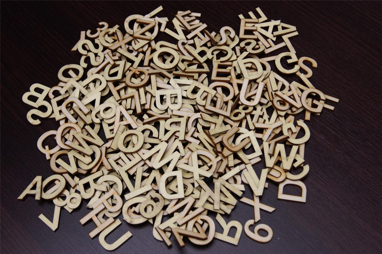 small wooden letters 250 3cm plain wooden small letter amp digits adhesive 24902