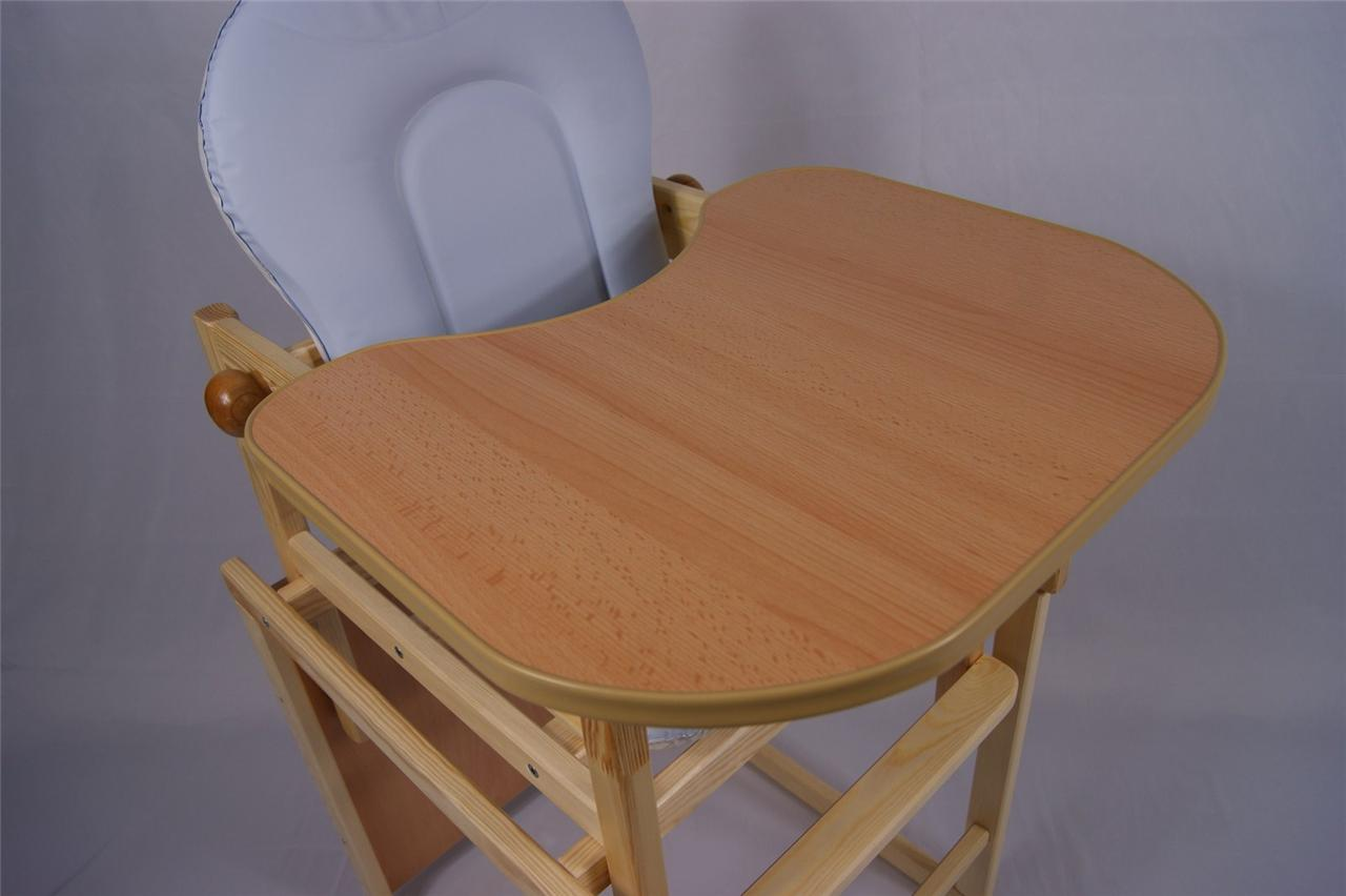 Exclusive Wooden High Chair Toddler Child's Table & Chair