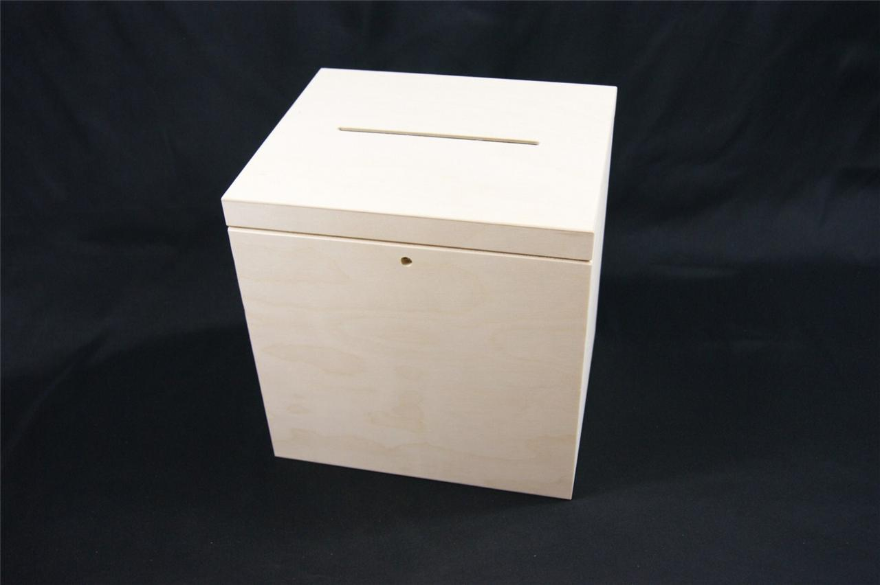 P2930 LOCKABLE PLAIN WOOD WOODEN BOX FOR WEDDING CARDS POST BOX – Lockable Wedding Card Box