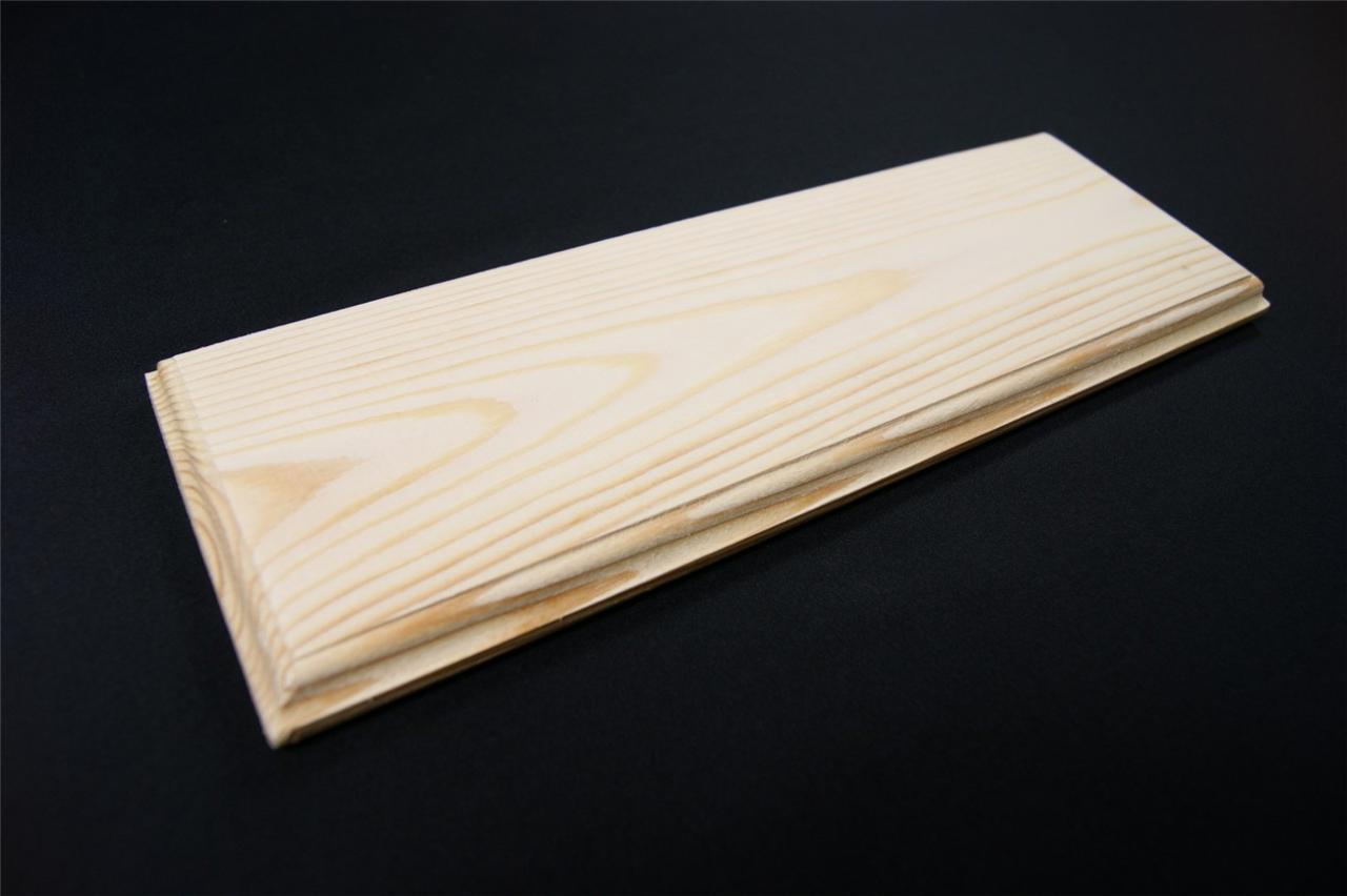 2 x plain wooden plaque door sign blank home decoration rectangle