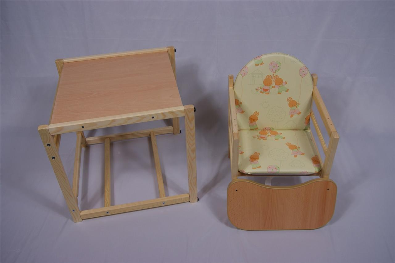Feed Me Now ! Wooden High Chair Toddler Child's Table