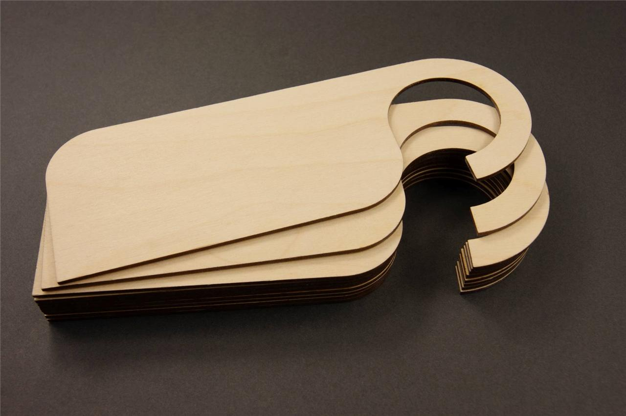 10 X Wooden Door Sign Hangers Unpainted Shapes Blank Craft