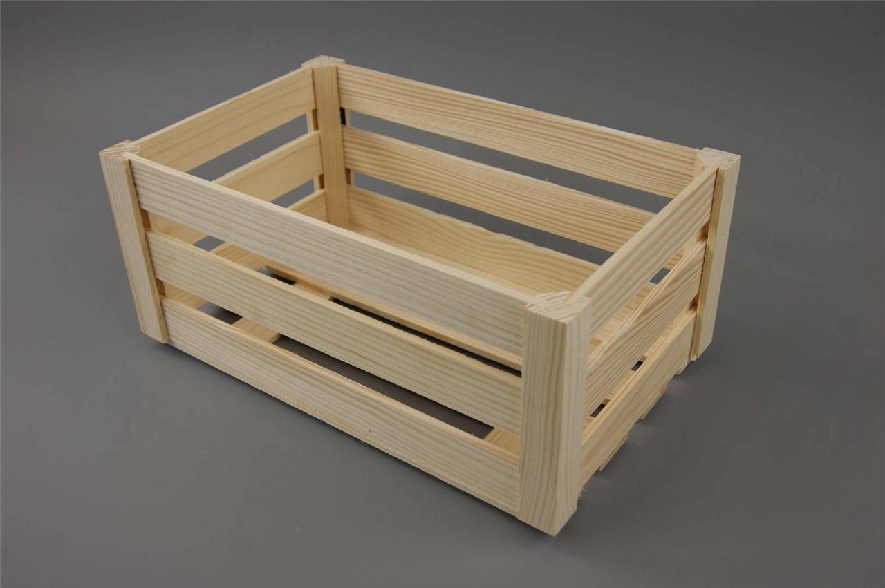 wooden storage box crate caddy kitchen toy tray organiser vintage