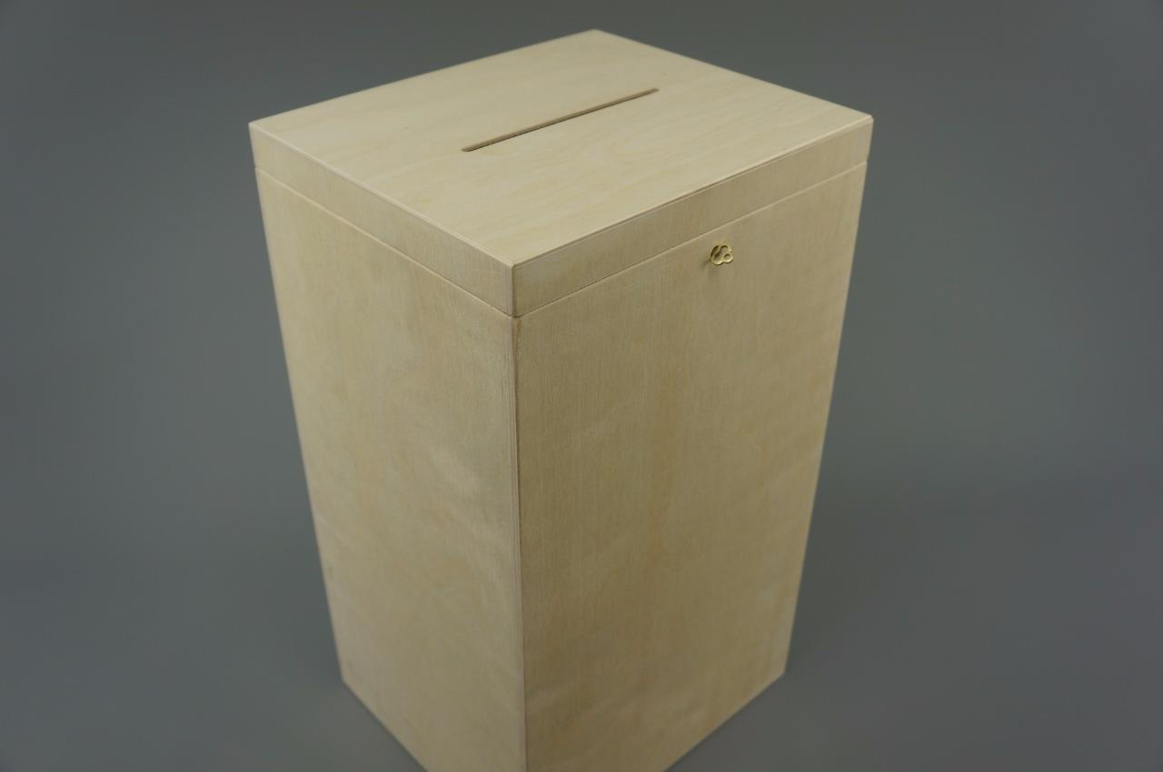 Lockable Plain Wooden Box Wedding Cards Post Box Storage Unit Gift