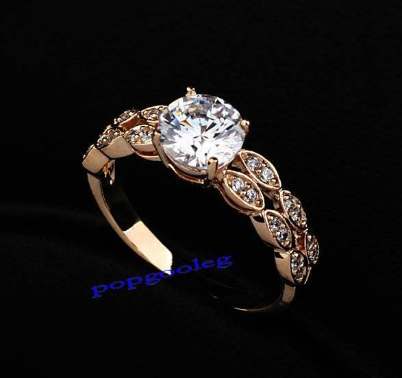 18K White/Gold GP White SWAROVSKI Crystals Wedding