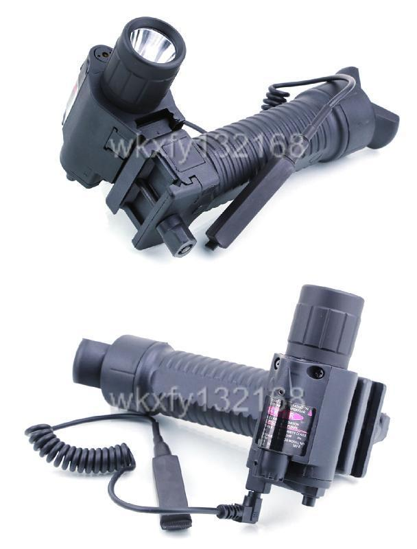 Tactical Combo Flashlight W Green Laser Sight Amp Vertical