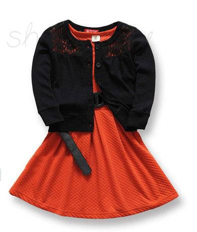 A248 New 2pcs Girl Kids Outfit Top Coat Dress Baby Party Clothes Set Skirt S0 5Y