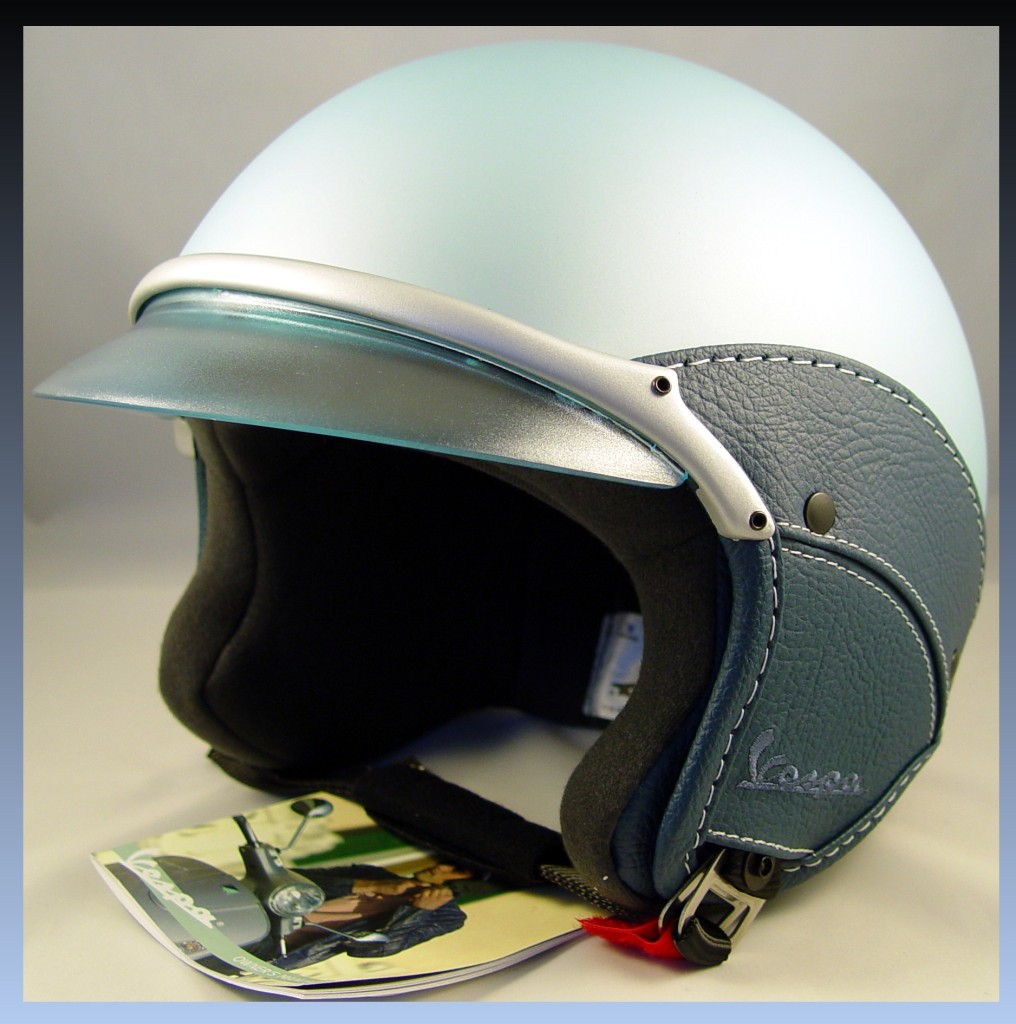 vespa piaggio scooter light blue helmet soft touch blue. Black Bedroom Furniture Sets. Home Design Ideas