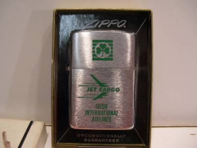 Vintage Unused Zippo Lighter Jet Cargo Irish International Airlines in box | eBay