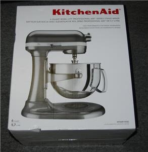 New Kitchenaid Kp26m1xqg Liquid Graphite 6 Quart Pro 600