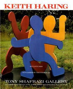 Artist Exhibition Vtg Ad Art Print 1990:Keith Haring//William Burroughs-Valley
