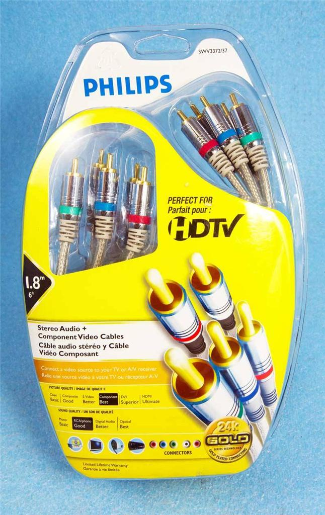 12 Ft Axis 41228 Component Video//Stereo Audio Cables