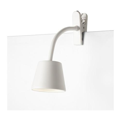 ikea modern led clamp clip lamp spotlight reading tisdag energy saving ebay. Black Bedroom Furniture Sets. Home Design Ideas