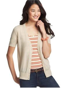 New Ann Taylor Loft Short Sleeve V Neck Cardigan Sweater Nwt 45 Orange Ebay