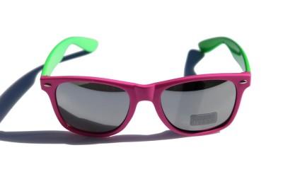 Ski Snowboard Vintage Retro 80/'s Sunglasses Mirror Magenta Green
