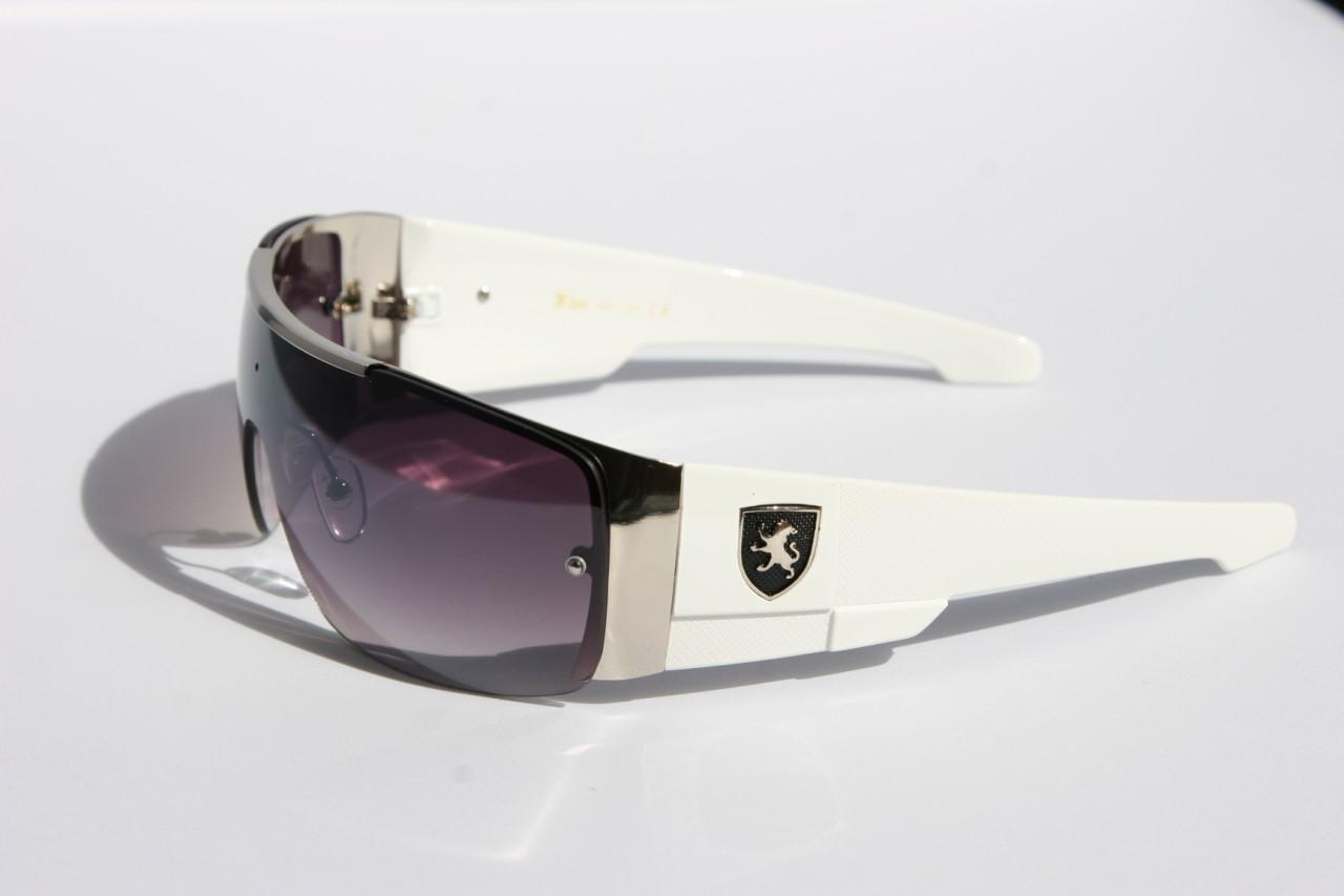 Mens oversized Sunglasses Khan eyewear SHIELD SPORTY WRAP AROUND BIKER SHADES