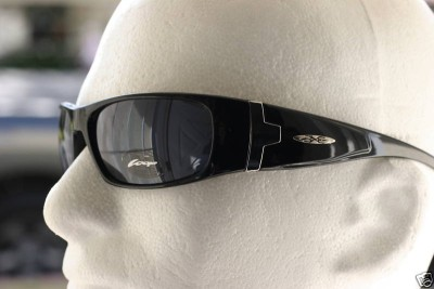 715f84edfa New Men Gloss Black Wrap Around Shielded X-loop Sunglasses Baseball ...
