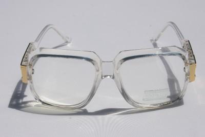 Clear Frame Retro Gazelle Nerd Style Sun Glasses /_ Gold or Silver Metal